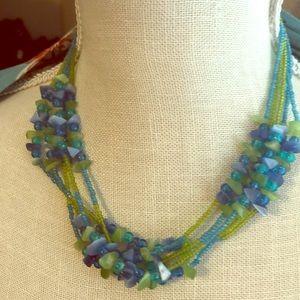 Handmade 5 Strand Short Necklace